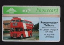 Phonecard BT Telephone card red Bus #185